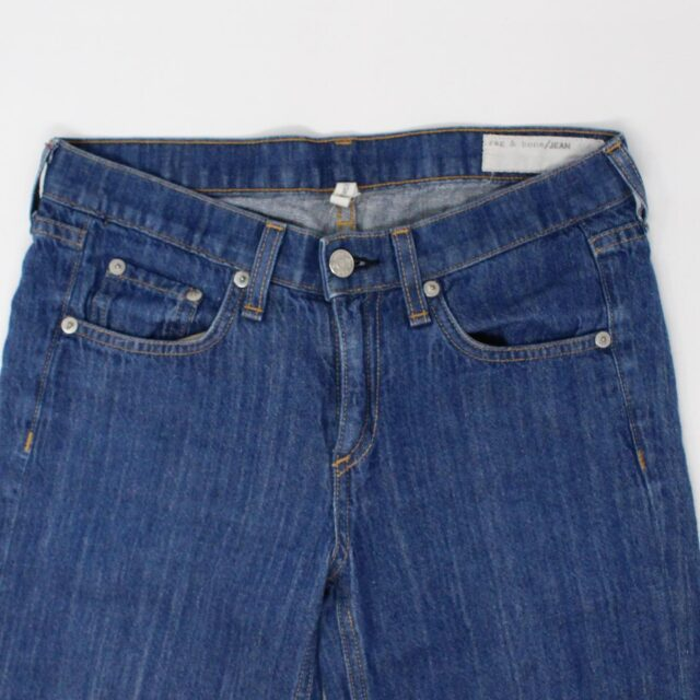 RAG BONE AYB083 Blue Loose Fit Wide Leg Jeans Size 25 2