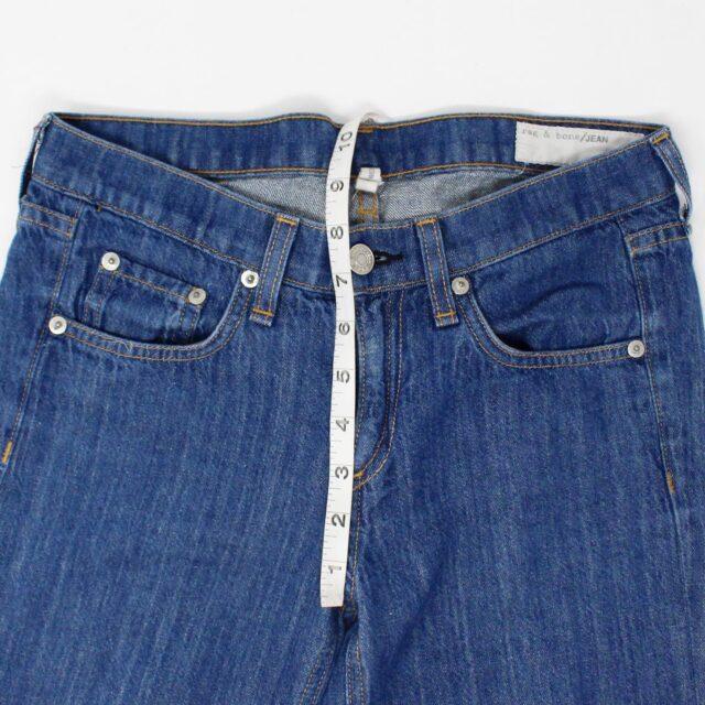 RAG BONE AYB083 Blue Loose Fit Wide Leg Jeans Size 25 4