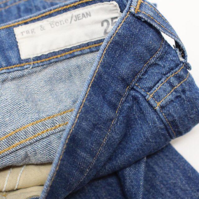 RAG BONE AYB083 Blue Loose Fit Wide Leg Jeans Size 25 6