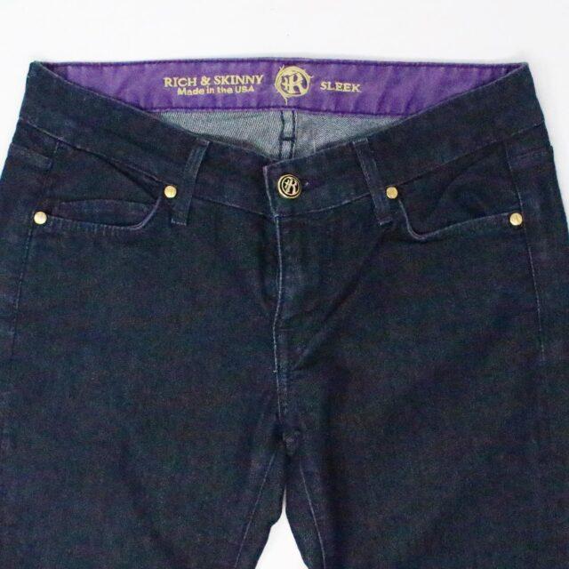 RICH SKINNY Dark Blue Sleek Straight Jeans Size 25 2