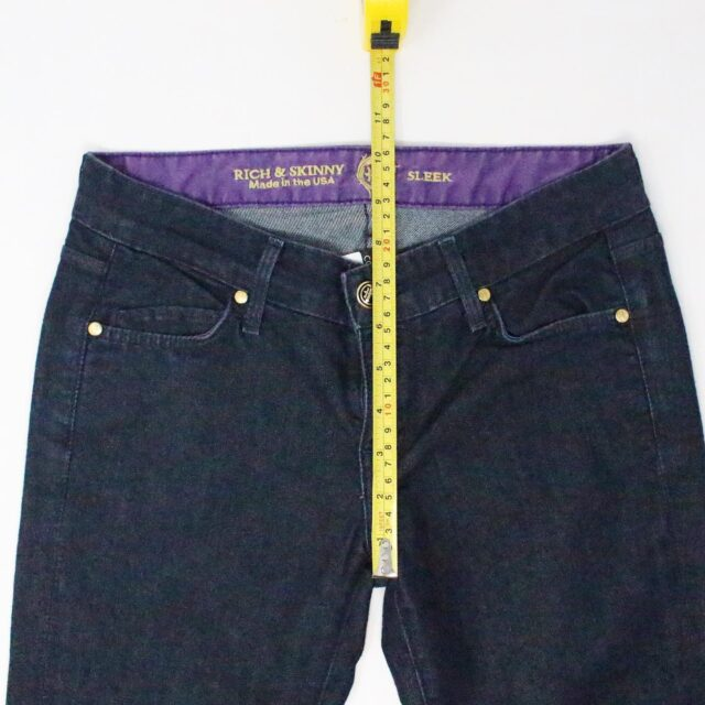 RICH SKINNY Dark Blue Sleek Straight Jeans Size 25 4