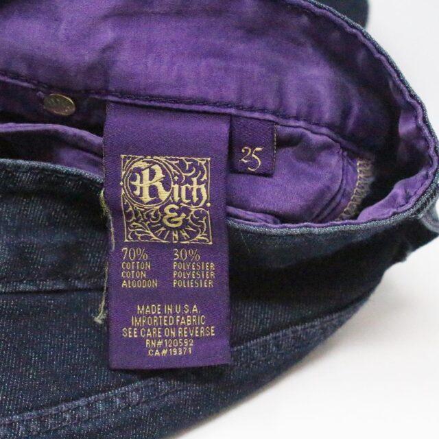 RICH SKINNY Dark Blue Sleek Straight Jeans Size 25 6