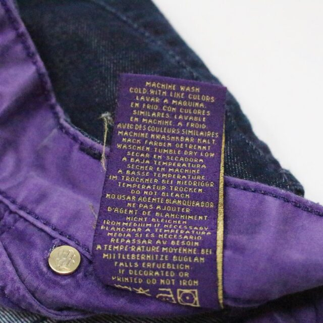 RICH SKINNY Dark Blue Sleek Straight Jeans Size 25 7