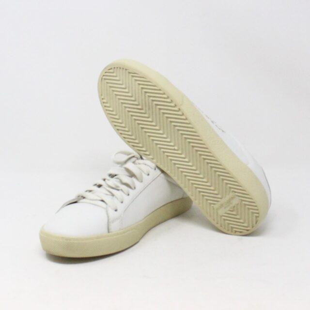SAINT LAURENT 30950 Mens White Court Canvas Classic Sneakers 5