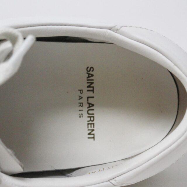 SAINT LAURENT 30950 Mens White Court Canvas Classic Sneakers 8