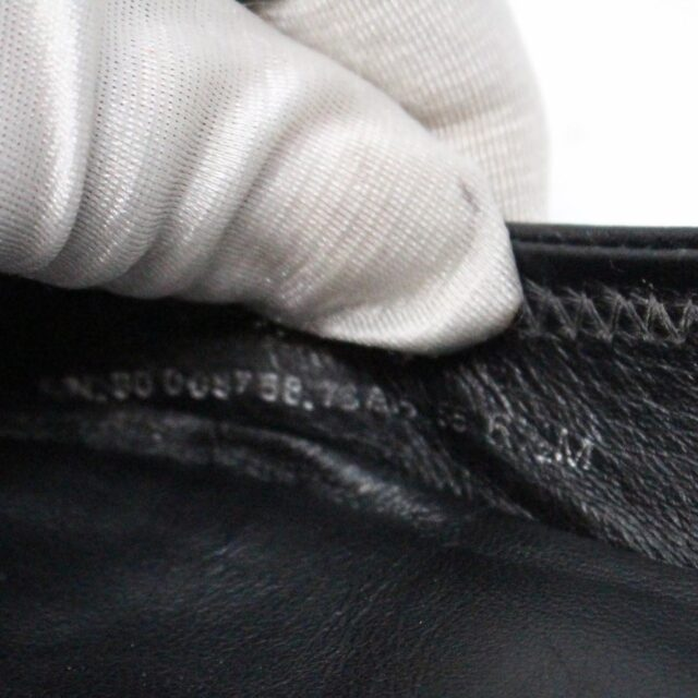 TORY BURCH 30931 Black Leather Logo Flats US 6 EU 36 6