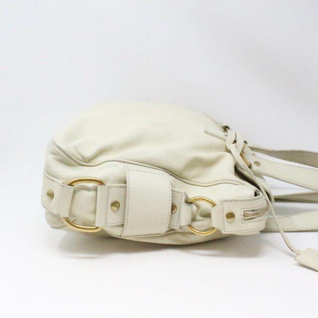 YVES SAINT LAURENT 31055 Beige Leather Muse Messenger Bag 3