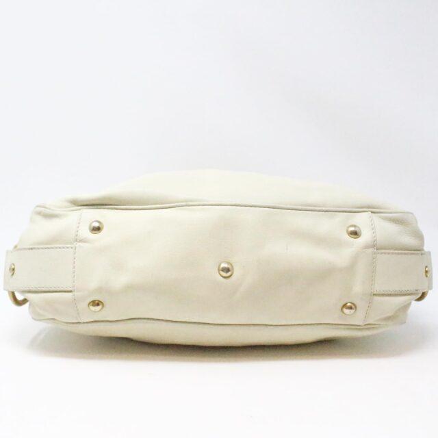 YVES SAINT LAURENT 31055 Beige Leather Muse Messenger Bag 4