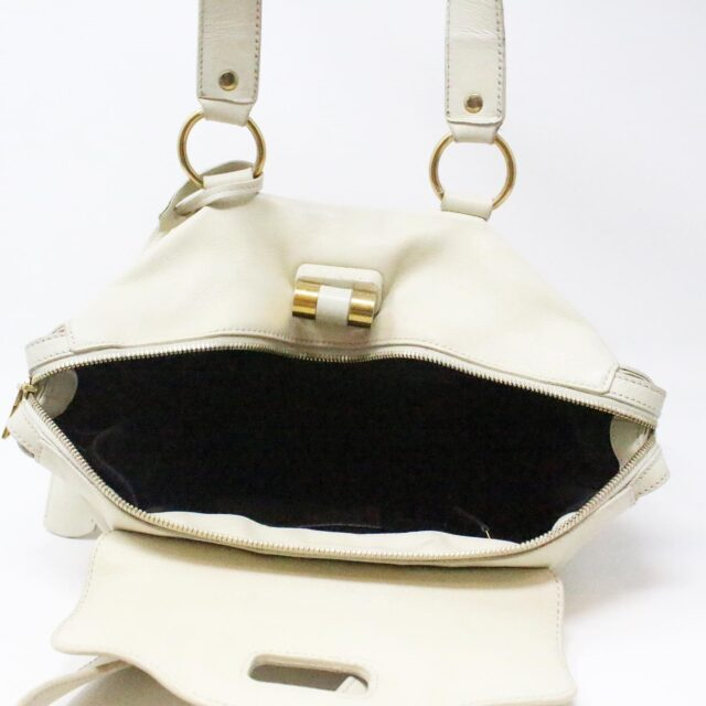 YVES SAINT LAURENT 31055 Beige Leather Muse Messenger Bag 9 2