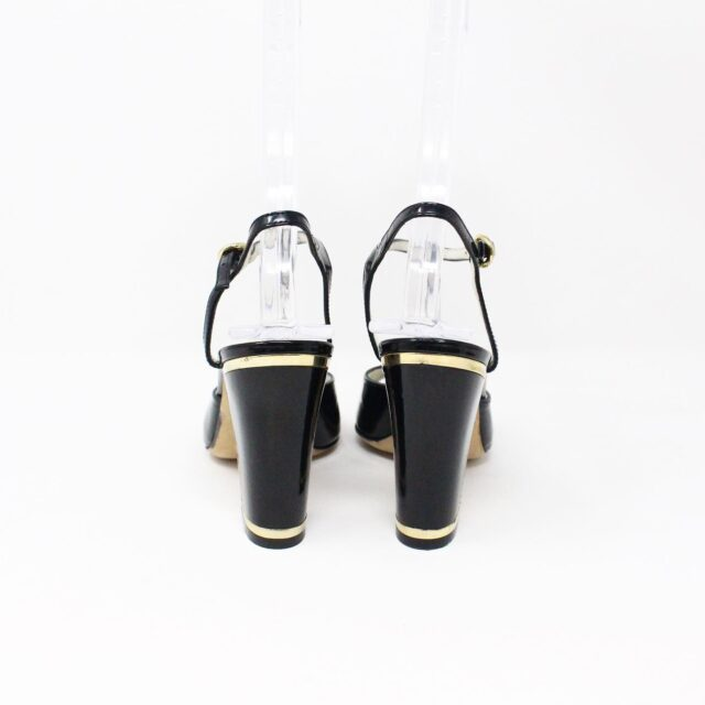 BALLY 26475 Black Patent Leather Strappy Heels US 5.5 EU 35.5 3