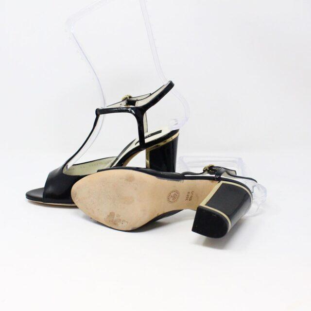 BALLY 26475 Black Patent Leather Strappy Heels US 5.5 EU 35.5 4