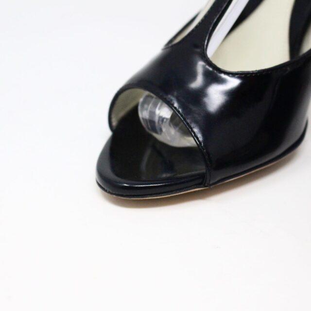 BALLY 26475 Black Patent Leather Strappy Heels US 5.5 EU 35.5 5