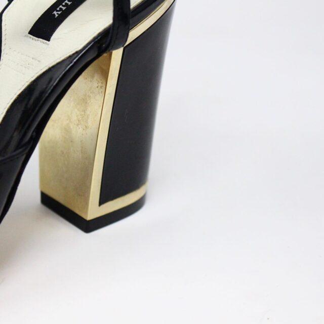 BALLY 26475 Black Patent Leather Strappy Heels US 5.5 EU 35.5 7