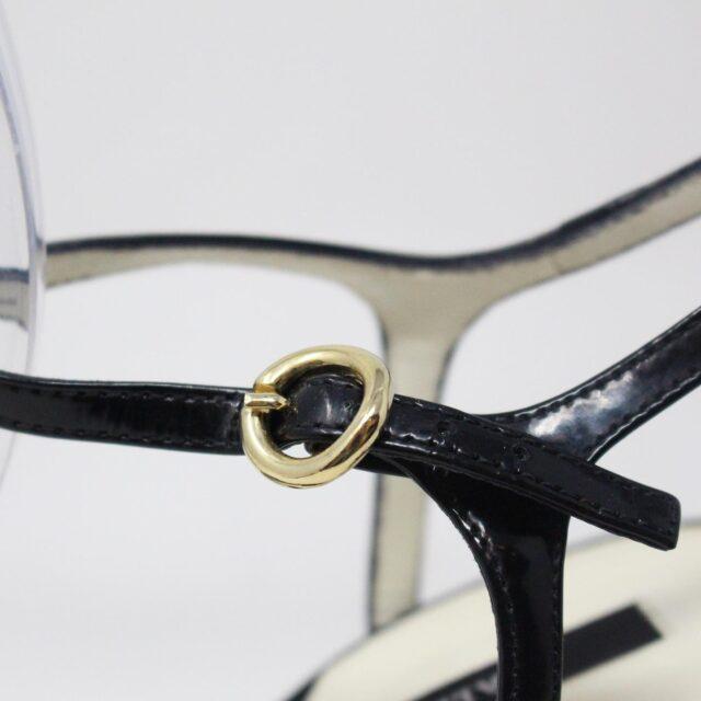 BALLY 26475 Black Patent Leather Strappy Heels US 5.5 EU 35.5 8