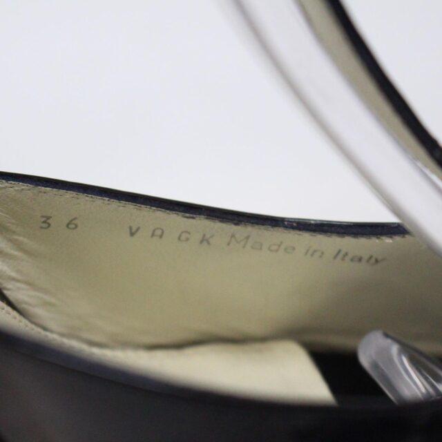 BALLY 26475 Black Patent Leather Strappy Heels US 5.5 EU 35.5 9