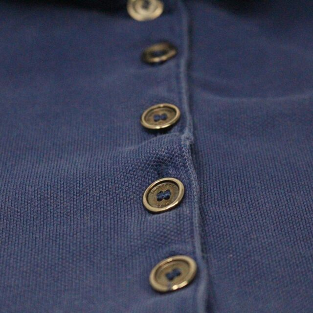 BURBERRY 31255 Navy Blue Polo Shirt Size Small 3