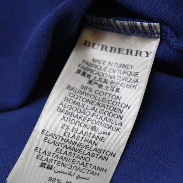 BURBERRY 31255 Navy Blue Polo Shirt Size Small 5