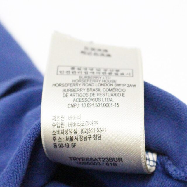BURBERRY 31255 Navy Blue Polo Shirt Size Small 6