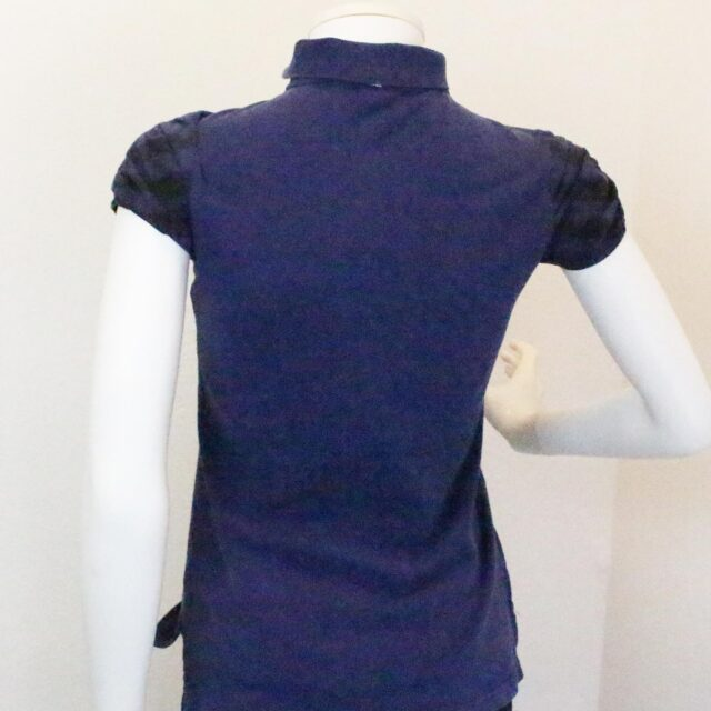 BURBERRY 31255 Navy Blue Polo Shirt Size Small 8