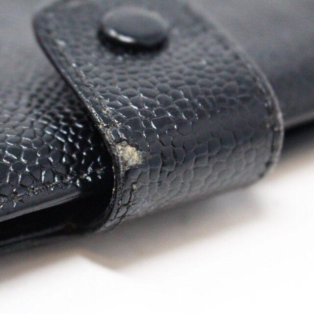 CHANEL 31356 Vintage Black Caviar Leather Snappy Wallet 10