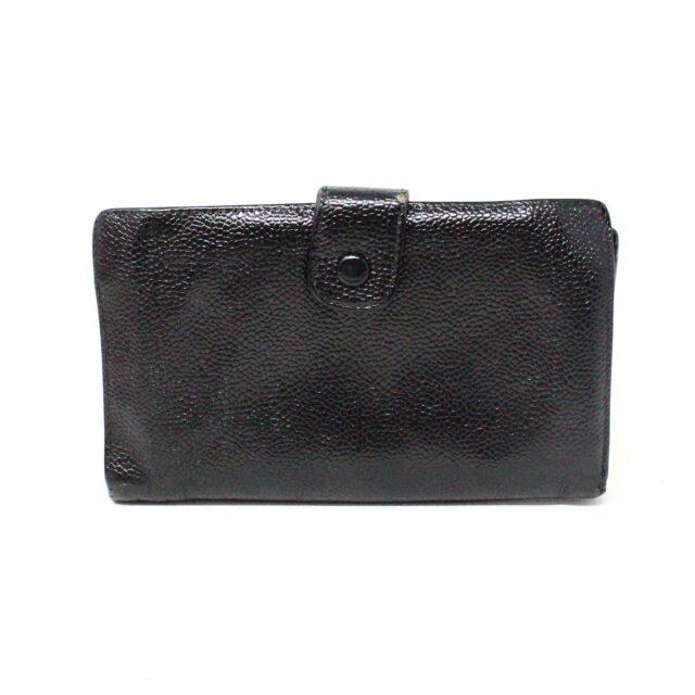 CHANEL 31356 Vintage Black Caviar Leather Snappy Wallet 2