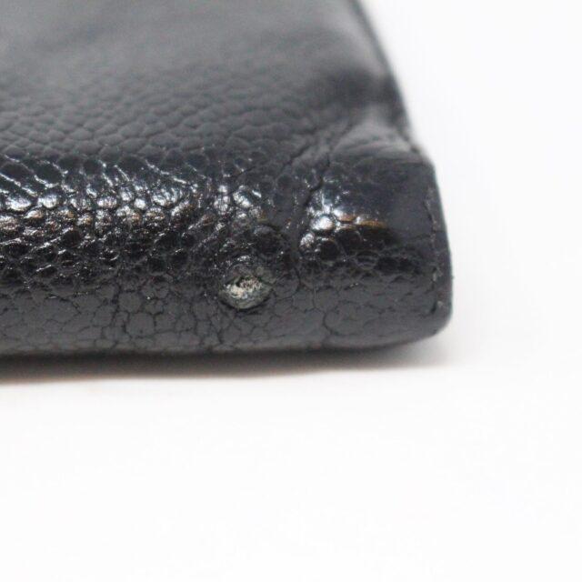 CHANEL 31356 Vintage Black Caviar Leather Snappy Wallet 6