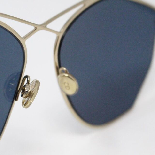 CHRISTIAN DIOR 31260 Hexagonal Blue Gold Tone Sunglasses 8