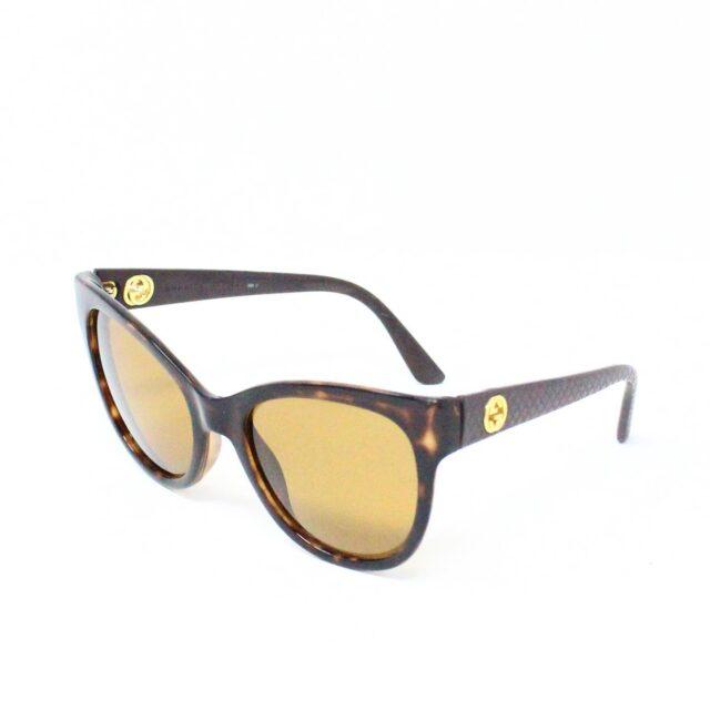 GUCCI 31226 Brown Semi Cat Eye Sunglasses 1