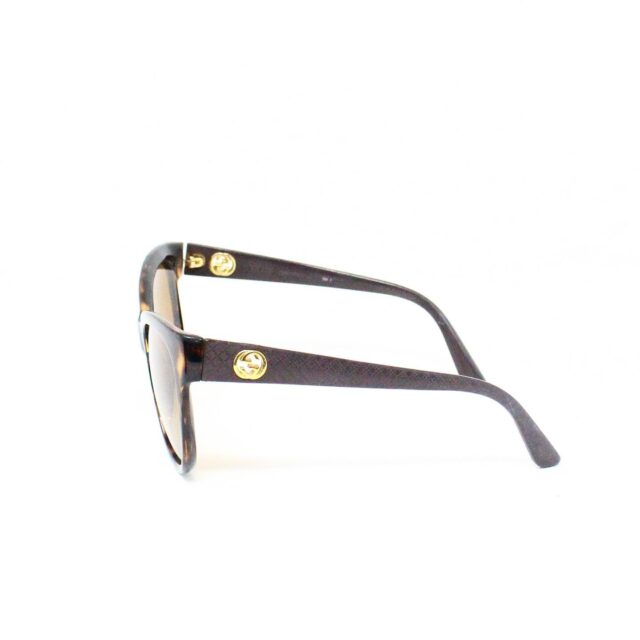 GUCCI 31226 Brown Semi Cat Eye Sunglasses 2