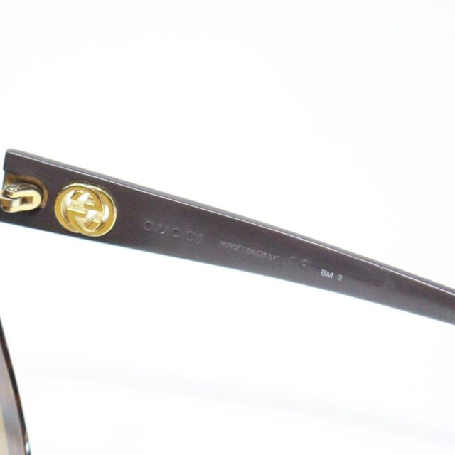 GUCCI 31226 Brown Semi Cat Eye Sunglasses 4