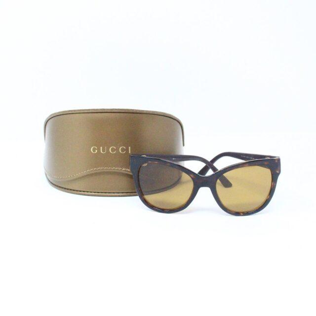 GUCCI 31226 Brown Semi Cat Eye Sunglasses 7