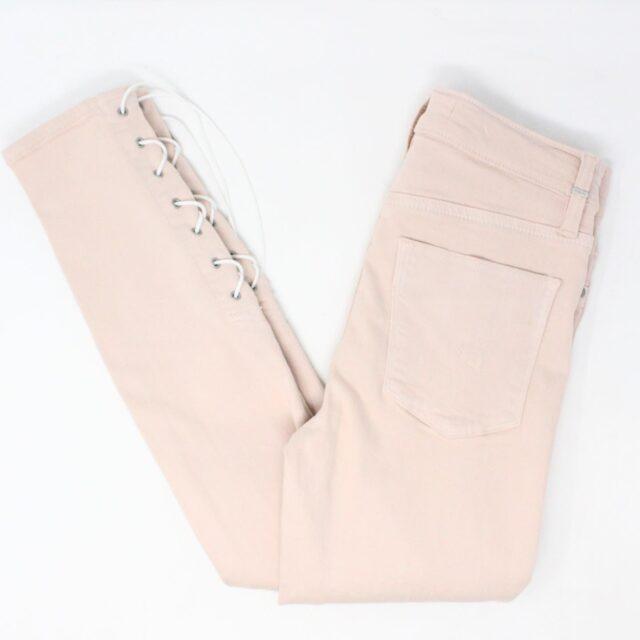 HUDSON 29279 Pink Barbara Super Skinny Pants NWT Size 24 1
