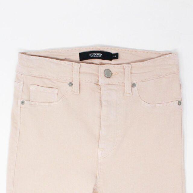 HUDSON 29279 Pink Barbara Super Skinny Pants NWT Size 24 2