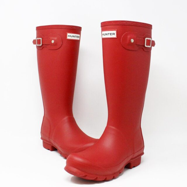 HUNTER 31357 Red Rainboots US 6 EU 36 1