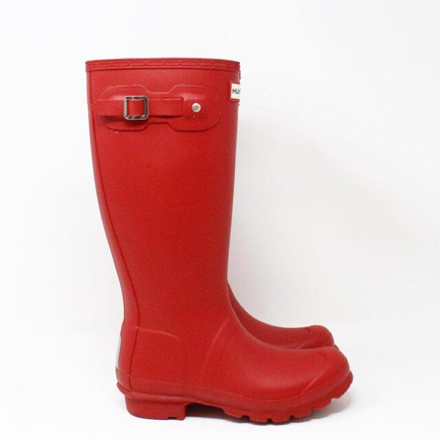 HUNTER 31357 Red Rainboots US 6 EU 36 2