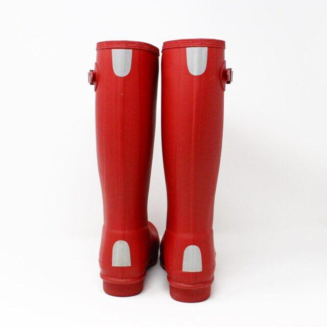 HUNTER 31357 Red Rainboots US 6 EU 36 3