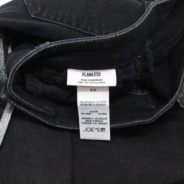 JOES 30183 Black Denim Charlie High Rise Skinny Ankle Jeans Size 26 6
