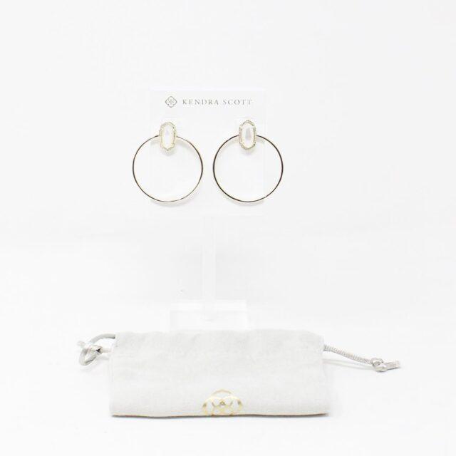 KENDRA SCOTT 31299 Maura Hoop White Earrings 1