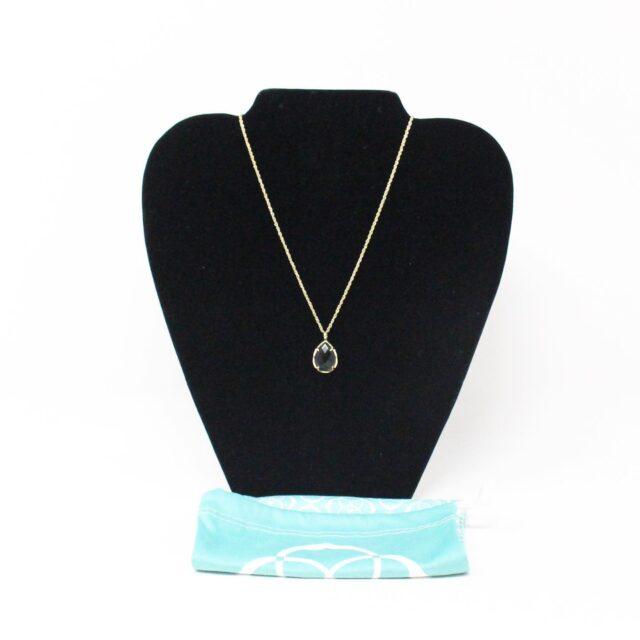 KENDRA SCOTT 31317 Black Gold Tone Pendant Necklace 1