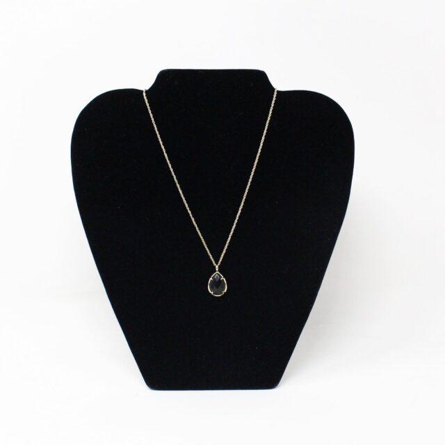 KENDRA SCOTT 31317 Black Gold Tone Pendant Necklace 2