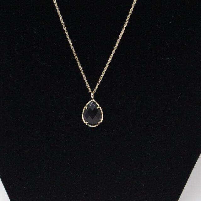 KENDRA SCOTT 31317 Black Gold Tone Pendant Necklace 3