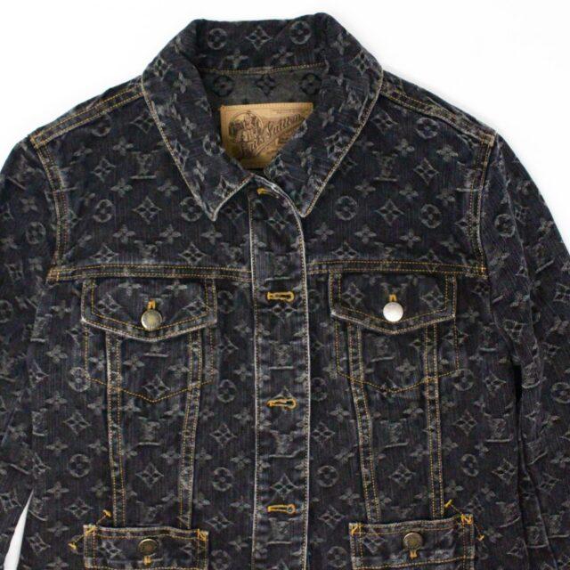 LOUIS VUITTON 31241 Monogram Denim Jacket US 6 EU 40 1