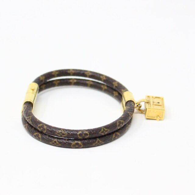 LOUIS VUITTON 31413 Monogram Canvas Petite Malle Bracelet 2