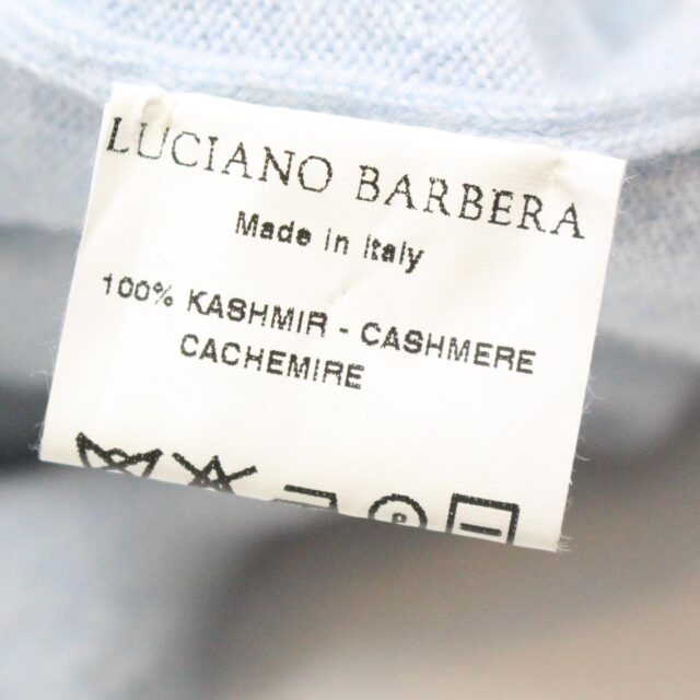 LUCIANO BARBERA 28458 Blue Cashmere Sleevless Top Size Small 5