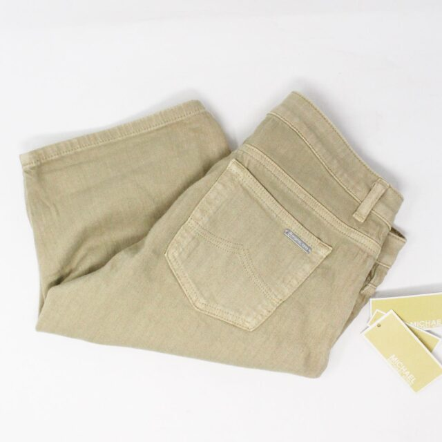 MICHAEL KORS 30172 Khaki Skinny Leg Shorts NWT Size 6 1