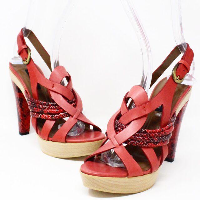 NANETTE LEPORE 30215 Red Strappy Heels US 6 EU 36 1