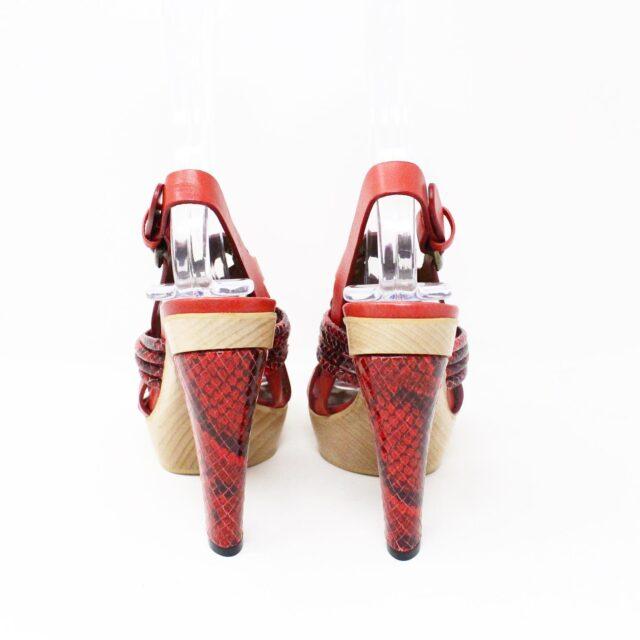 NANETTE LEPORE 30215 Red Strappy Heels US 6 EU 36 3