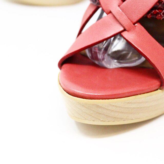 NANETTE LEPORE 30215 Red Strappy Heels US 6 EU 36 5