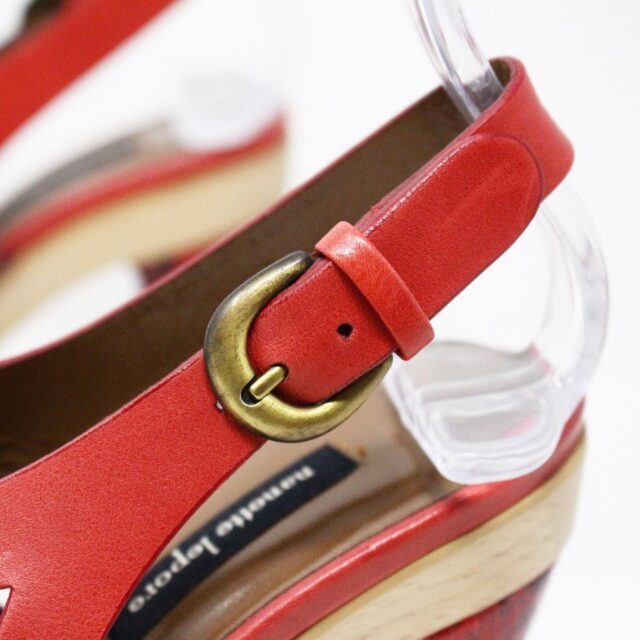 NANETTE LEPORE 30215 Red Strappy Heels US 6 EU 36 6