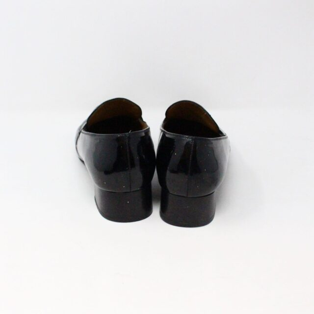 SALVATORE FERRAGAMO 26840 Vintage Patent Leather Heeled Loafers US 6 EU 36 3
